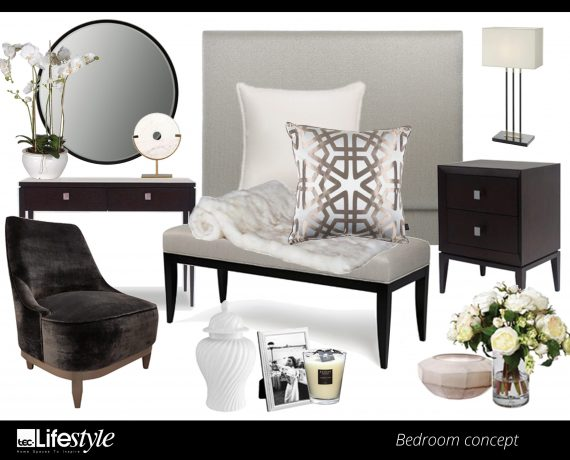 mood board brentwood bedroom